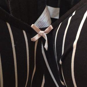 Cacique Intimates & Sleepwear - 40 F cacique black with white stripes